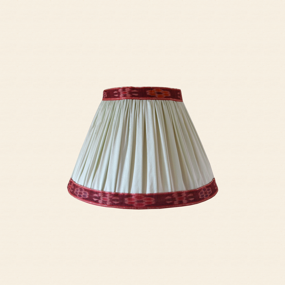 silk ikat lampshade