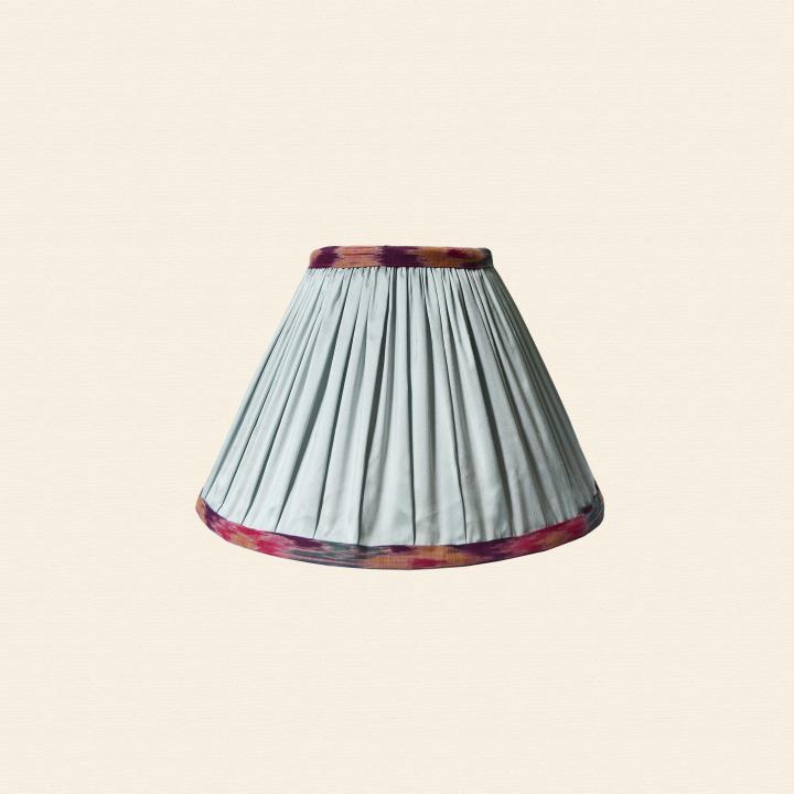 silk ikat trim lampshade