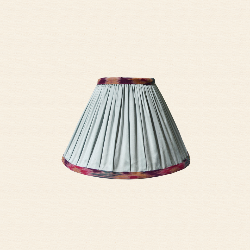 silk ikat trim lampshade