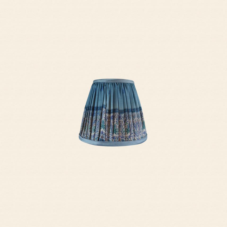 Silk sari lampshade